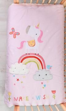 Одеяло Bizzi Growin (Биззи Гровин) Rainbow and Unicorns 120*100 BG001
