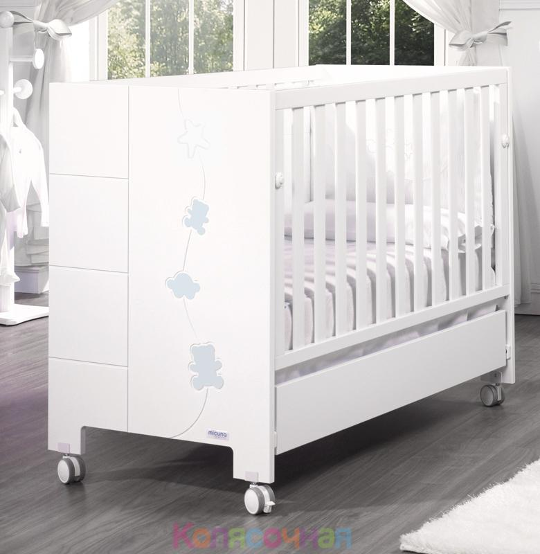 Кроватка 120х60 Micuna Juliette Relax(White/Blue)